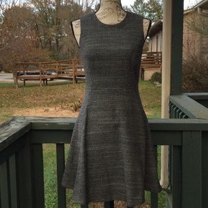 Made well dovetail tweed wool blend dress sz 2